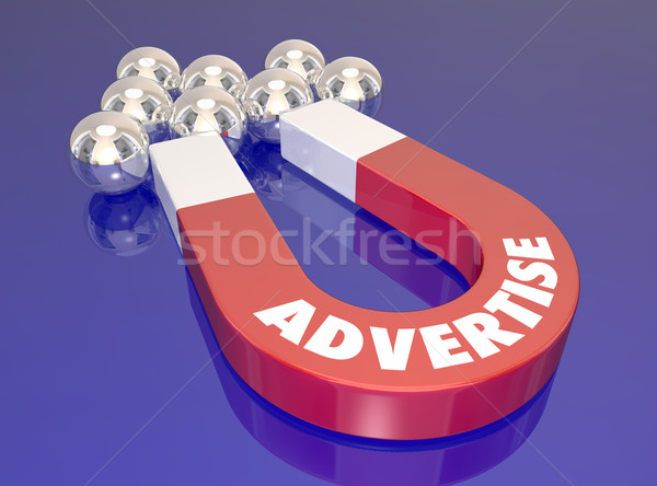 Advertise Magnet Find New Customers Marketing Lure Pull Prospect Stock photo © iqoncept