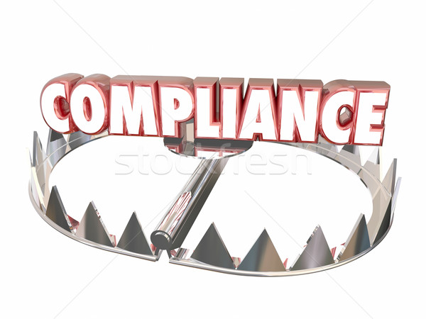 Compliance Rules Regulations Bear Trap Legal Risk 3d Word Stock photo © iqoncept