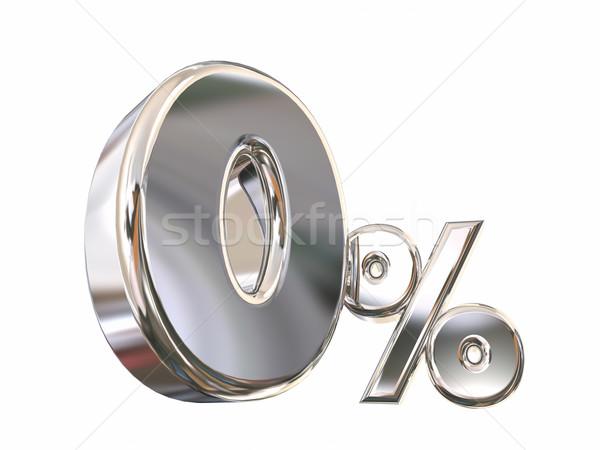 Pari a zero cento basso no tasso di interesse finanziamento Foto d'archivio © iqoncept