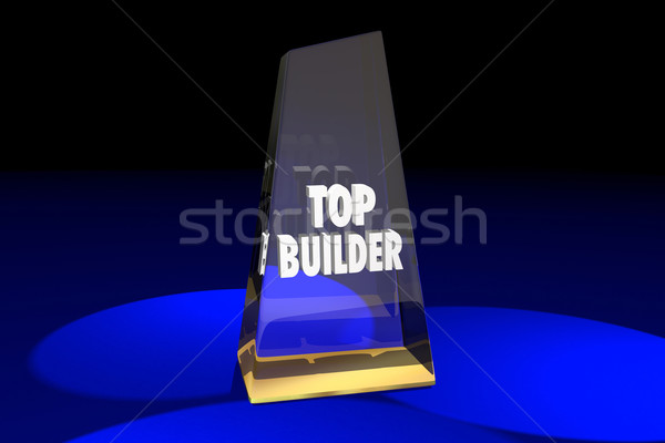 Top Builder Contractor Construction Award Words 3d Illustration Stock photo © iqoncept