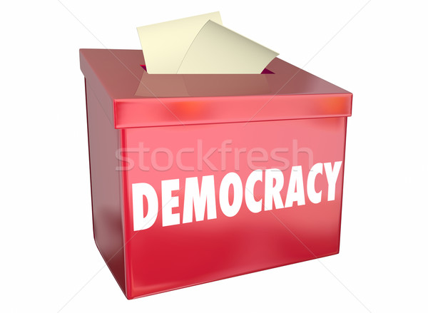Democracy Freedom Choice Vote Ballot Box 3d Illustration Stock photo © iqoncept