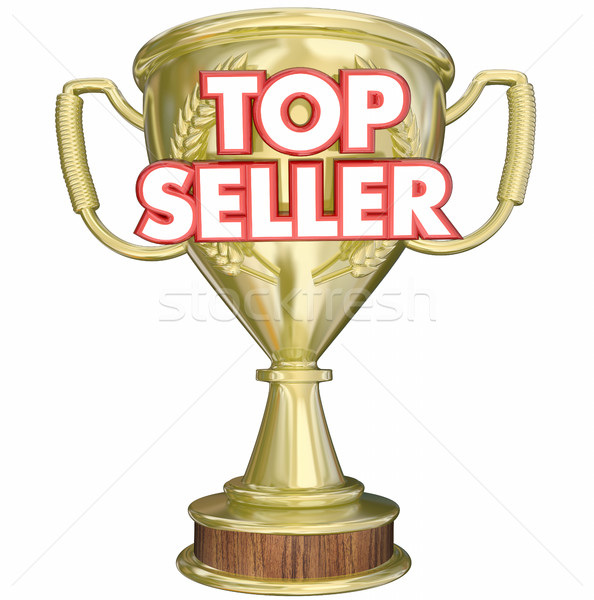 Top Seller Best Selling Product Trophy Prize 3d Illustration Stock photo © iqoncept