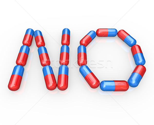Stock photo: No Word Spelled in Pills - Beat Addiction by Refusing Drugs