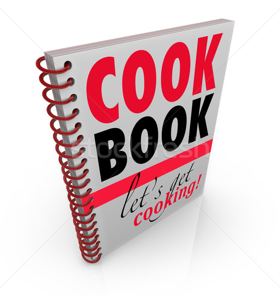 Cookbook Spiral Bound Cook Book Let's Get Cooking Stock photo © iqoncept