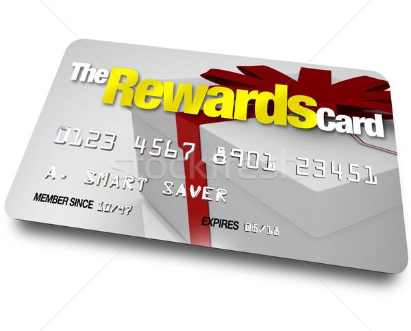 Hitelkártya név kártya ajándék előnyök konzerv Stock fotó © iqoncept