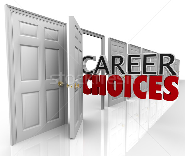 Career Choices Words Many Doors Opportunities Jobs Stock photo © iqoncept