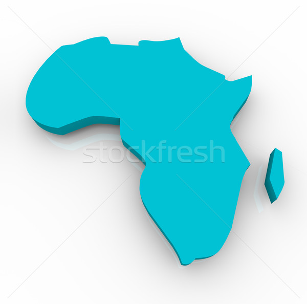 Map of Africa - Blue Stock photo © iqoncept