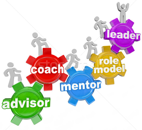 Coach Advisor Mentor Leading You to Achieve Goals Stock photo © iqoncept