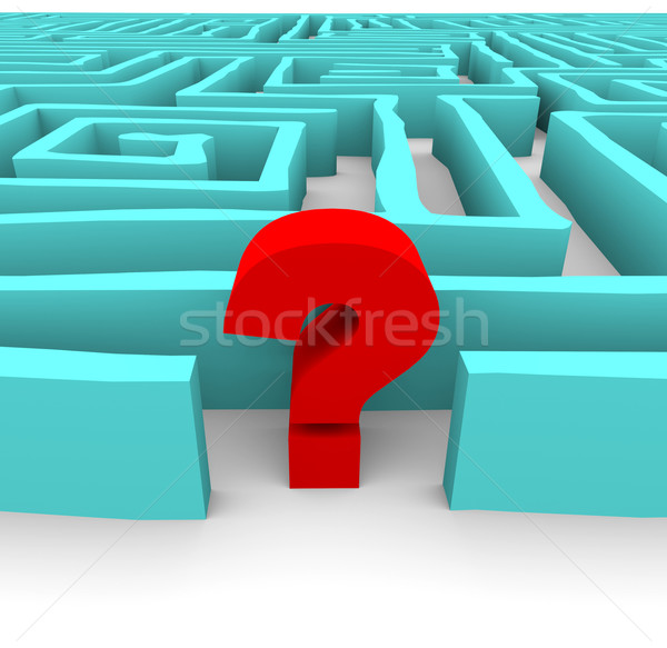 Question Mark in Blue Maze Stock photo © iqoncept