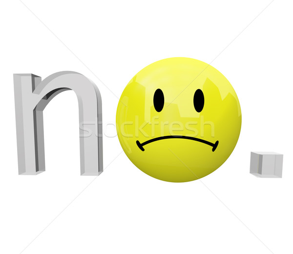 No - Yellow Frown Face Emoticon Stock photo © iqoncept