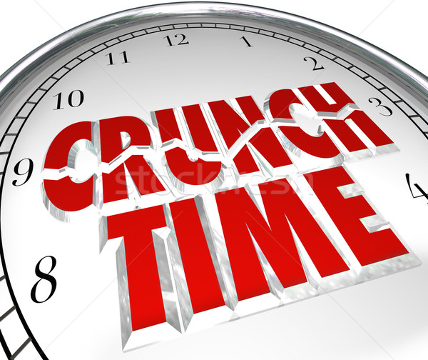 Crunch Time Clock Hurry Rush Deadline Final Moment Stock photo © iqoncept
