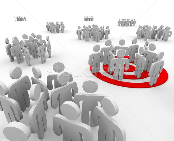 Targeting a Group of People Stock photo © iqoncept