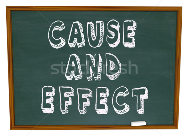 Cause and Effect Chalk Board Experiment Science Learning Stock photo © iqoncept