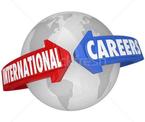 Foto stock: Internacional · negocio · global · empleador · palabras
