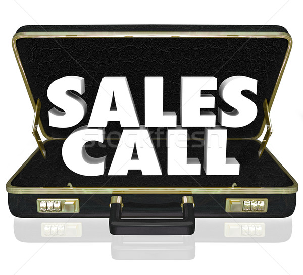 Sales Call Open Briefcase Selling Presentation Proposal Stock photo © iqoncept