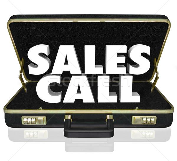De vendas chamar abrir pasta apresentação Foto stock © iqoncept