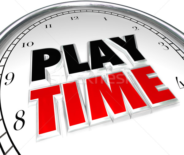 Play Time Clock Fun Recreation Recess Sports Activity Stock photo © iqoncept