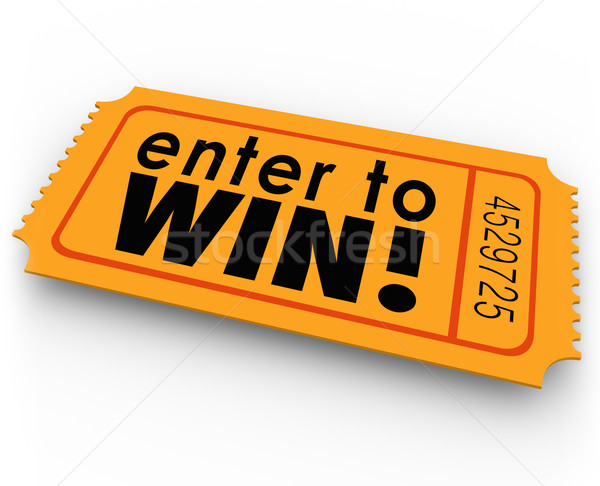 Enter to Win Raffle Ticket Winner Lottery Jackpot Stock photo © iqoncept