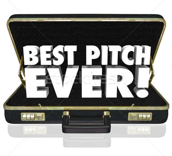 Best Pitch Ever Sales Presentation Proposal Briefcase Stock photo © iqoncept