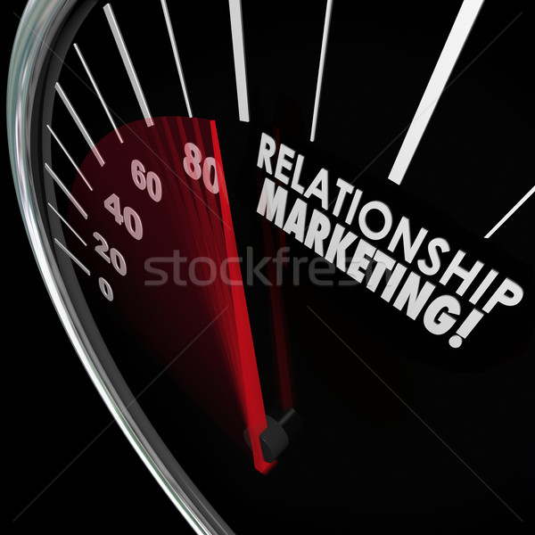Relationship Marketing Speedometer Increase Customer Loyalty Stock photo © iqoncept