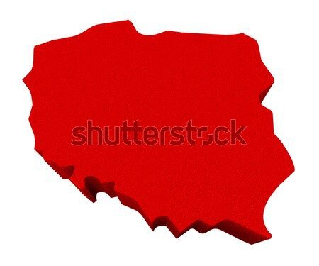 Iowa kırmızı ABD 3D harita dizayn Stok fotoğraf © iqoncept