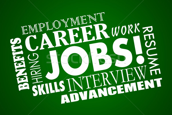 Jobs Career Interview Hiring Interview Word Collage Stock photo © iqoncept