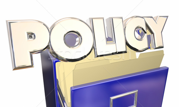 Policy 3d Word Filing Cabinet Official Rules Regulations Policie Stock photo © iqoncept