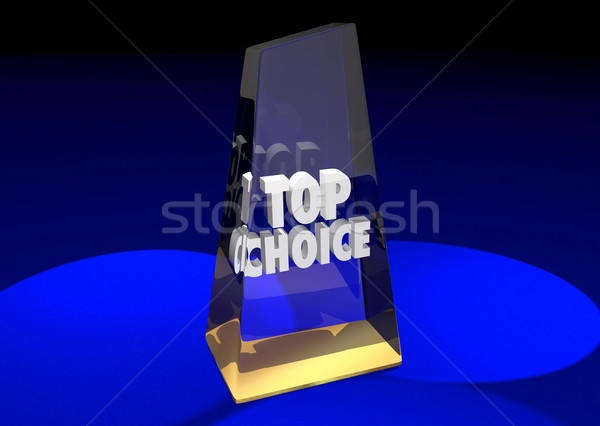 Top Choice Award Honor Best Ultimate Pick Poll Winner 3d Illustr Stock photo © iqoncept