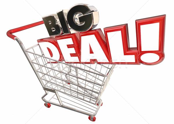 Big Deal Savings Sale Shopping Cart Words 3d Illustration Stock photo © iqoncept