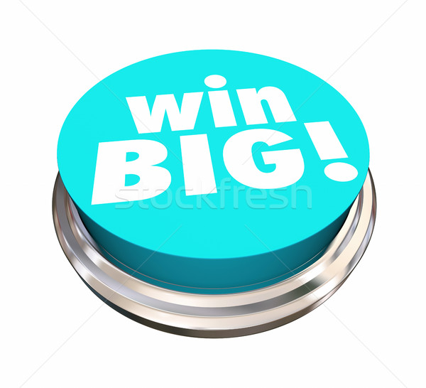 Win Big Button Jackpot Lottery Contest 3d Illustration Stock photo © iqoncept