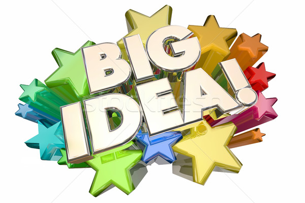 Big Idea Stars Concept Thought Opportunity 3d Illustration Stock photo © iqoncept