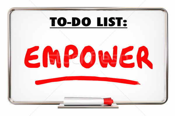 Empower Allow Permit Entrust Writing Word 3d Illustration Stock photo © iqoncept