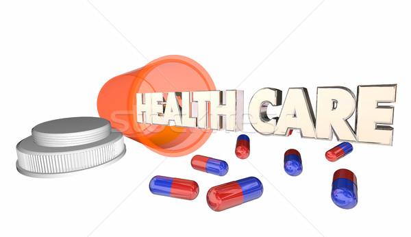 Sağlık tıp reçete hap kapsül şişe Stok fotoğraf © iqoncept