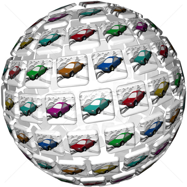Many Different Illustrated Cars Choices Variety Selection Stock photo © iqoncept