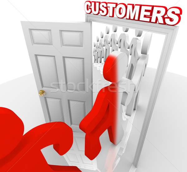 Converting Prospects to Customers - Sales Doorway Stock photo © iqoncept