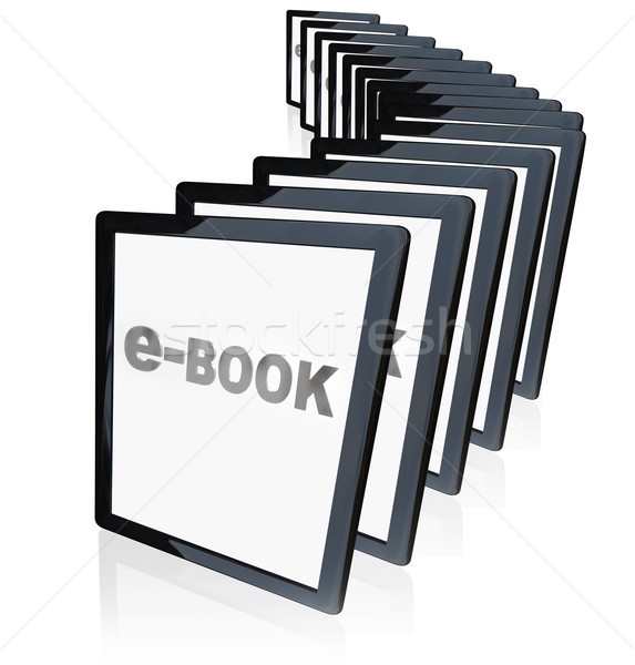 e-Books Tablet Readers New Technology Growing in Popularity   Stock photo © iqoncept