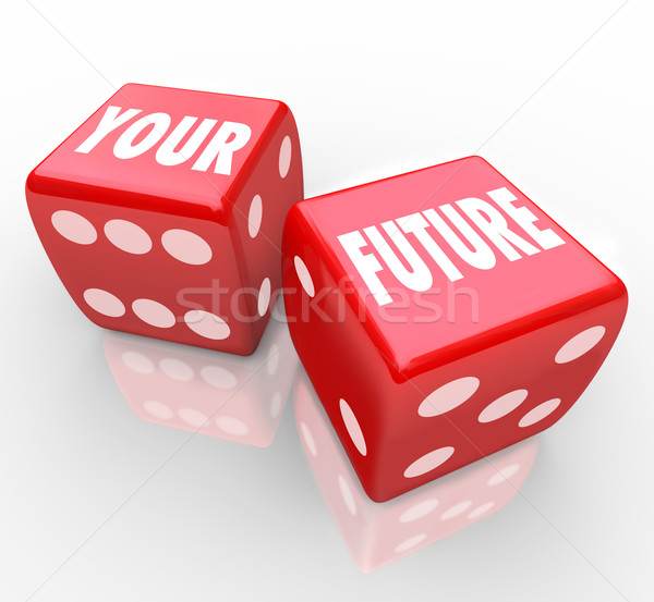 Red Dice - Gambling Your Future Stock photo © iqoncept