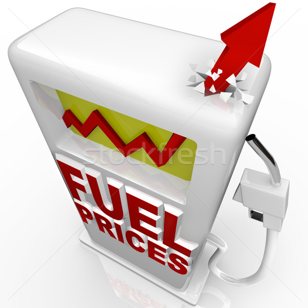 Gas Prices - Arrow Rising at Gasoline Pump Stock photo © iqoncept