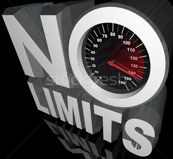 No Limits Speedometer Words Unlimited Potential Stock photo © iqoncept