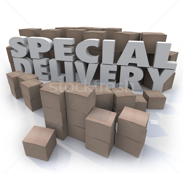 Special Delivery Boxes Packages Shipping Handling Warehouse Stock photo © iqoncept