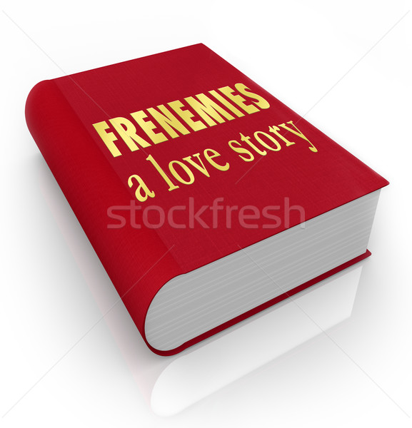 Frenemies A Love Story Book Cover Friends Become Enemies Stock photo © iqoncept