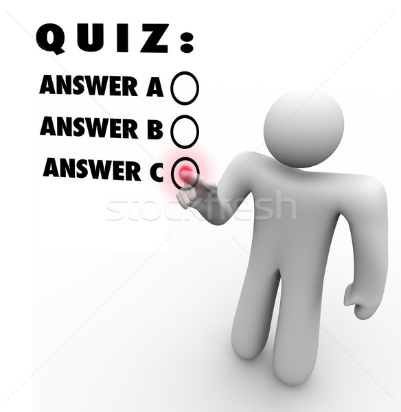 Quiz Multiple Choice Choosing Best Answer Test Stock photo © iqoncept