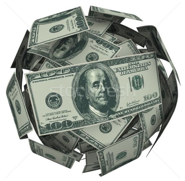 Photo stock: Dollar · Bill · argent · balle · trésorerie · monnaie