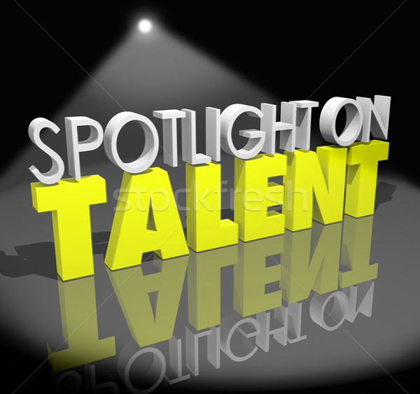 Spotlight On Talent Your Moment to Shine Skills Abilities Showca Stock photo © iqoncept