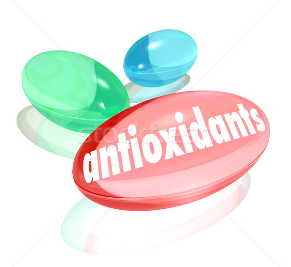 Antioxidants Capsules Pills Nutritional Supplements Healthy Life Stock photo © iqoncept