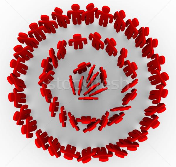 Megcélzott emberek piros gyűrűk telitalálat csoportok Stock fotó © iqoncept