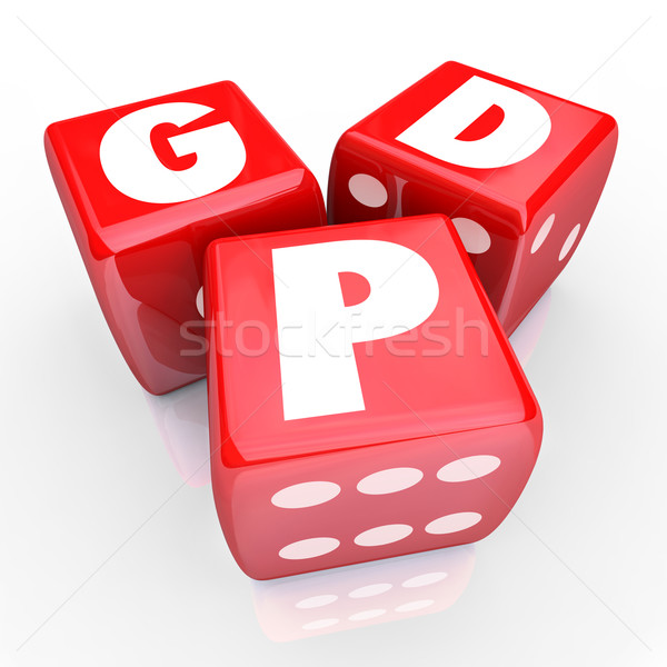 Stock photo: GDP Gross Domestic Product National Manufacturing Goods Output 3