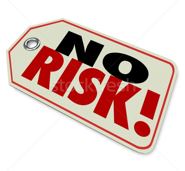 No Risk Price Tag Top Trusted Quality Brand Best Product Guarant Stock photo © iqoncept
