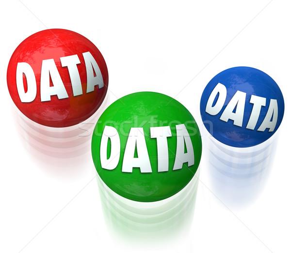 Veri hokkabazlık bilgi teknolojisi veritabanı kelime Stok fotoğraf © iqoncept