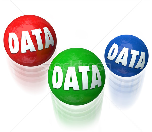 Data Juggling Information Technology Database 3 Balls Stock photo © iqoncept
